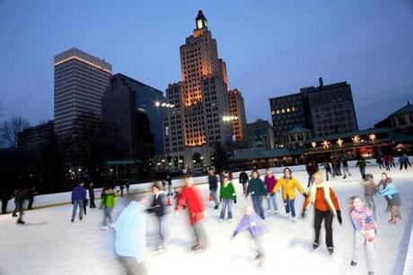 Greater Kennedy Plaza - Bank of America Skating Center in Providence, Rhode Island.